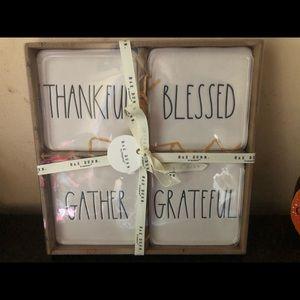 Rae Dunn Fall / Thanksgiving Coasters